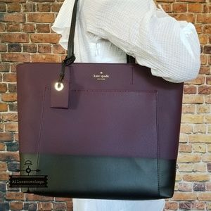 Kate spade harding street riley tote plum bag